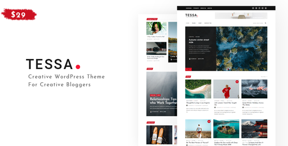 Tessa - Modern Theme for Blogs & Magazines