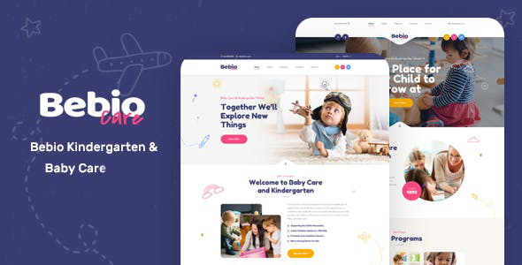 Bebio - Kindergarten & Baby Care WordPress Theme