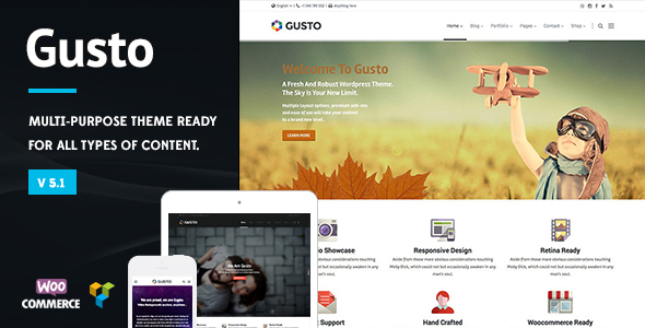 Gusto - Vanguard WordPress Theme