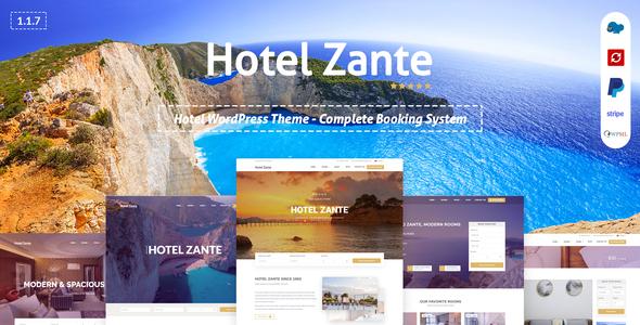 Zante - Booking Theme for Hotel