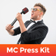 RealMC – Master of Ceremonies / Host Resume / Press Kit PSD Template - GraphicRiver Item for Sale