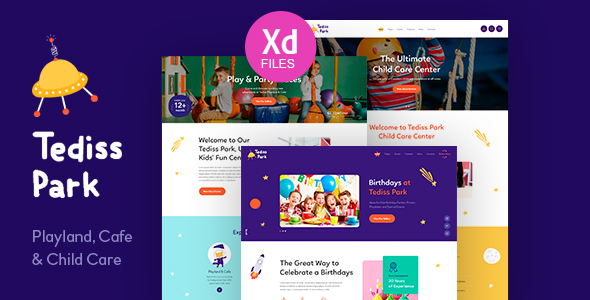 Tediss | Play Area & Child Care Center XD Template Free Download