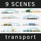 9 Transportation Scenes Ultra HD - VideoHive Item for Sale