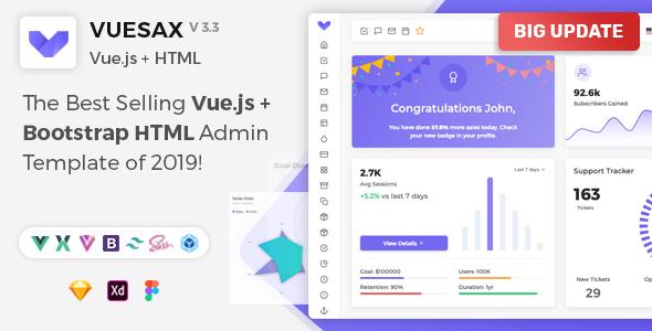 Vuesax - Vuejs + HTML Admin Dashboard Template