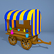 Low Poly Wagon - 3DOcean Item for Sale