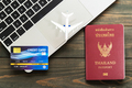 Passport with credit card on laptop-2 - PhotoDune Item for Sale