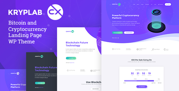 Kryplab - Bitcoin & Cryptocurrency Theme