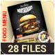 Food Menu Design Template + C Fold Menu, A2 & Table Tent Template - GraphicRiver Item for Sale