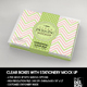 Clear Horizontal Box with Stationery Set Packaging Mockup - GraphicRiver Item for Sale