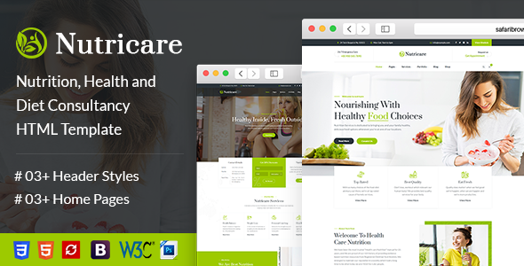 Nutricare | Nutrition Health and Diet Creative HTML5 Template