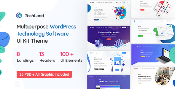 Techland – WordPress Saas Startup Theme Free Download