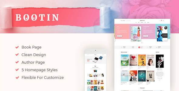 Bootin - Book Store WooCommerce WordPress Theme