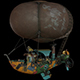 Steampunk Airship LowPoly - 3DOcean Item for Sale