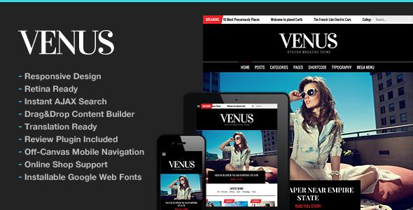 Venus   News Magazine Blog WordPress