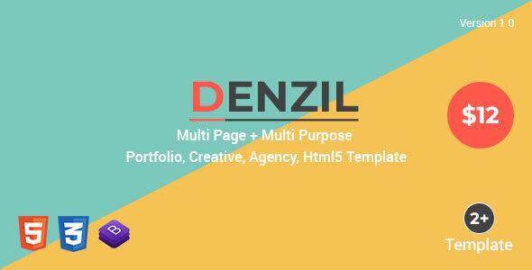 Denzil — Multi-Page Multi-Purpose Html Template