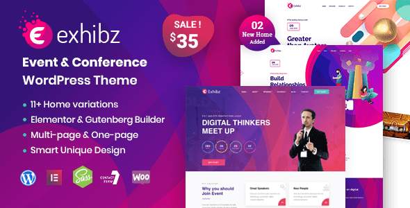 Exhibz | Event Conference WordPress Theme Free Download