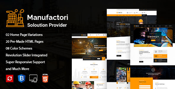 Manufactori: Factory and Industrial Business HTML5 Template