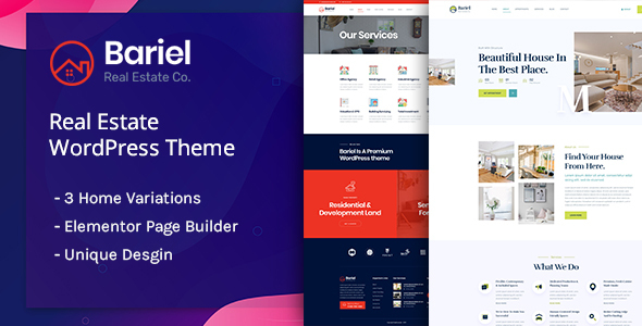 Bariel – Real Estate WordPress Theme Free Download