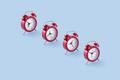 Classic red clocks - PhotoDune Item for Sale