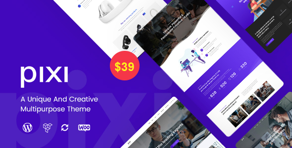 Pixi - Creative Multi-Purpose WordPress Theme