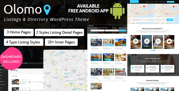 Olomo – Listings & Directory WordPress Theme