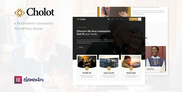Cholot - Retirement Community WordPress Theme