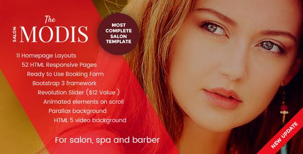 Modny - szablon strony internetowej salonu, spa i fryzjera