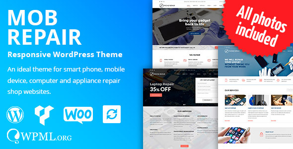 MobRepair - Mobile Phone Repair Services WordPress Theme