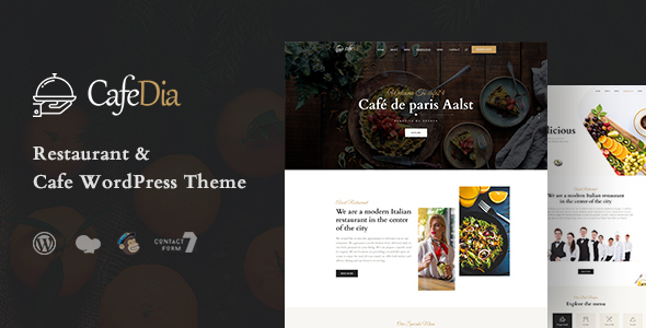 CafeDia - Restaurant WordPress Theme