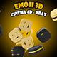 Emoji 3D - C4D / Vray - 3DOcean Item for Sale