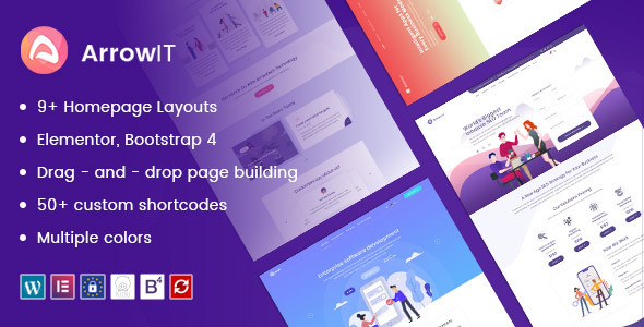 ArrowIT – Technology, Digital Transformation WordPress Theme Free Download