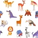 Wild African Animals and Birds Seamless Pattern - GraphicRiver Item for Sale