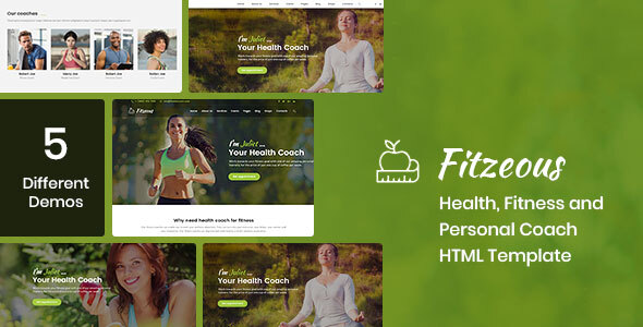 Fitzeous - Health, Fitness, Personal Coach HTML Template