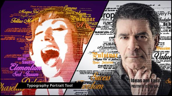 3D Typography Portrait Tool