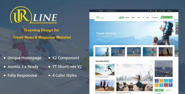 Urline - Responsive Travel News Joomla Template