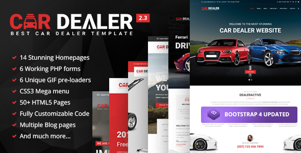 Car Dealer - Automotive Responsive HTML5 Template