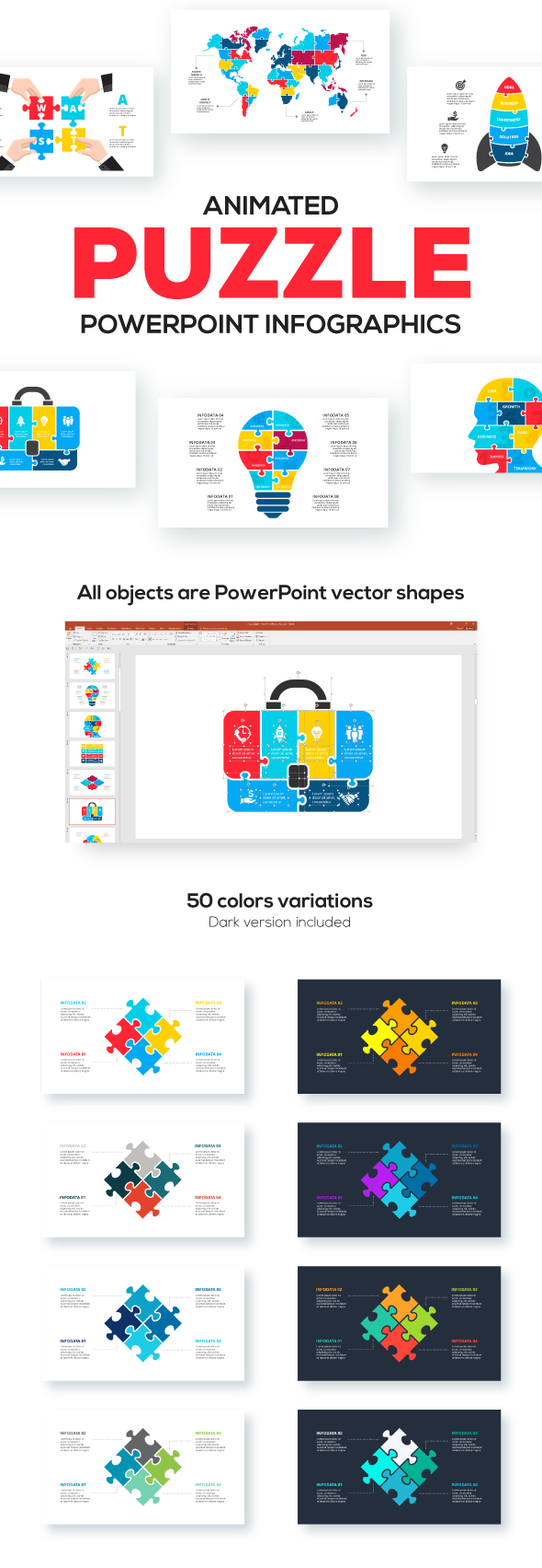 Puzzle Animated Infographic Presentations