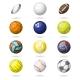 Color Sport Balls Set Background - GraphicRiver Item for Sale