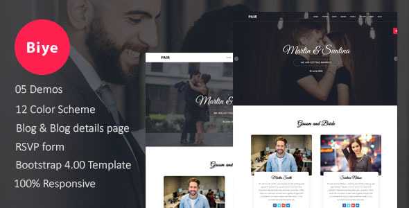 Biye - Wedding HTML5 Template