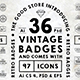 36 Vintage Logo Badges & 97 Icons - GraphicRiver Item for Sale