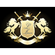 Golden Heraldic Coat of Arms - GraphicRiver Item for Sale