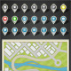 GPS Map and Location Icon Kit - GraphicRiver Item for Sale