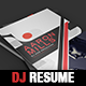 Dj / Musician Japan Style Press Kit / Resume A4 Template - GraphicRiver Item for Sale