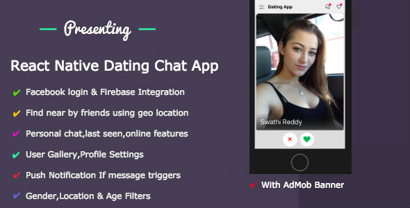 React Native Dating Mobile App - IOS & Android With Backend Download