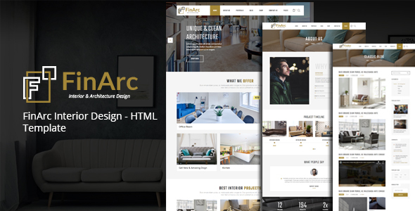 FinArc Interior Design - HTML Template