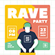 Rave Party Flyer Set - GraphicRiver Item for Sale