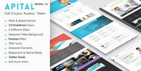 Apital - Ultra Premium Business Drupal 7 Theme
