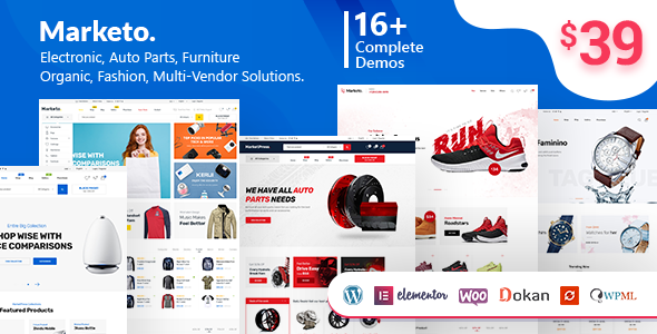 Marketo - eCommerce & Multivendor Marketplace Woocommerce WordPress Theme