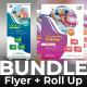 Kids Swimming Bundle (Flyer+Roll Up) - GraphicRiver Item for Sale