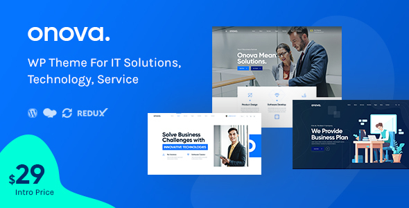 Onova – IT Solutions and Services Company WordPress Theme Free Download